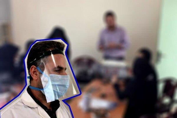 کارکنان بیمارستان امام خمینی جیرفت محافظ صورت تولید کردند